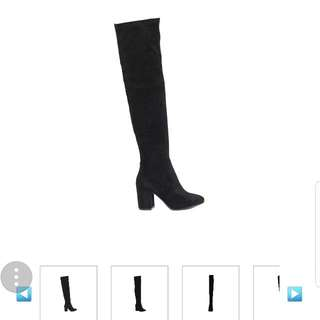 Size 9 | Tres Jolie Over The Knee Boot, Black