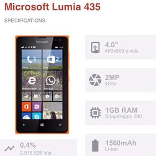 Nokia Lumia 435 Mobile Phone
