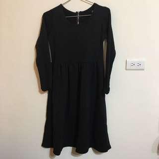 簡約 黑色 長洋裝
