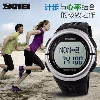 SKMEI Jam Tangan Olahraga Pedometer Heart Rate - DG1058HR