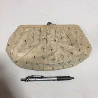 Beige Pouch/Bag