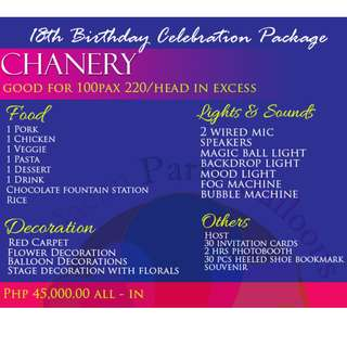 Chanery Debut Package