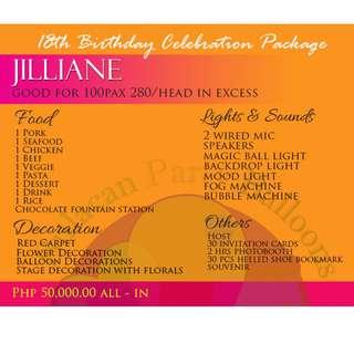 Jilliane Debut Package