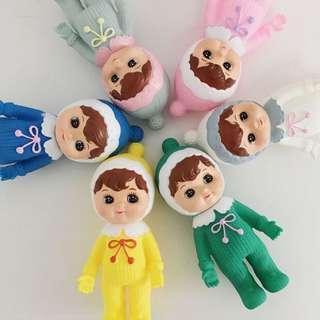 日本🇯🇵 原宿風 復古 軟塑膠 迷你娃娃 HK$99