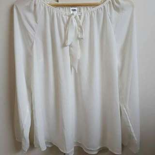 Cream Blouse Size 10