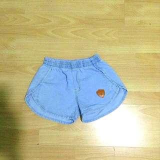 Denim Patched Shorts