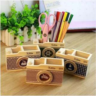 Instock Marine Camera Pen Stationery Holder Organizer