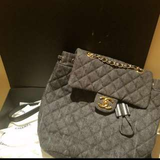 Chanel Denim Backpack (Small)