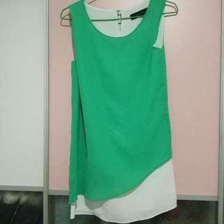 🚚 正韓 流行 綠 上衣