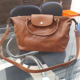 Long Champ Cuir Small Leather Authentic