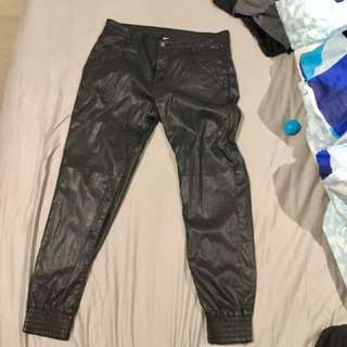 WITCHERY LEATHER PANT