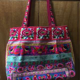 Hmong Embroidered Tote