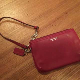 Coach Oxblood Pouch Purse