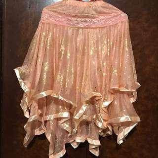 Peach Ruffled Skirt