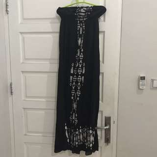 Strapless Dress Rip Curl Tribal Size S
