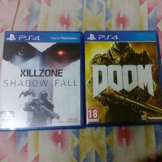 PS4 Games Doom Killzone Shadow Fall PS4