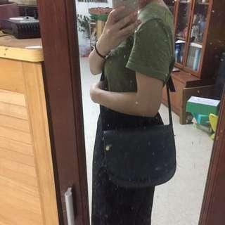 Net 墨綠色 側背小包 硬質