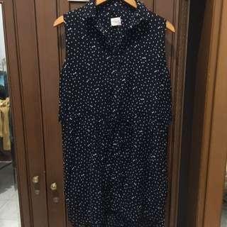 GAUDI : NAVY BLUE RIBBON DRESS