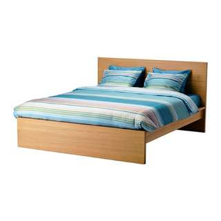 Reduced IKEA Malm Double/Full Bed & Side Drawer