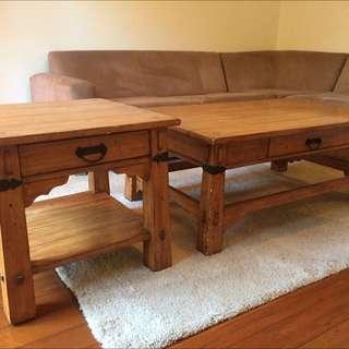 Oak Coffee Table And Locker