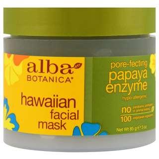 Alba Botanica, Hawaiian Facial Mask, Pore-Fecting Papaya Enzyme (85 g)