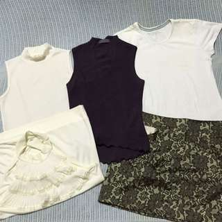 XMAS 2017 Brand New Tops With Like new Preloved Skirt