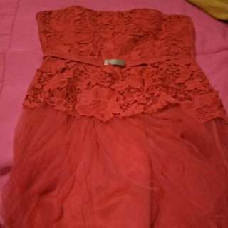 Red Dress Gown