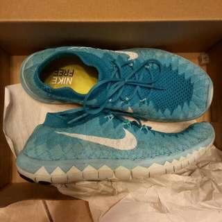 Nike Flyknit 3.0 女鞋 運動鞋 跑鞋 編織鞋 耐吉 水藍配色 剪標 23.0腳穿剛好 九成新
