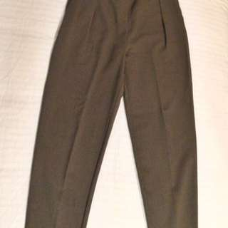 Olive Green Tailored Pants