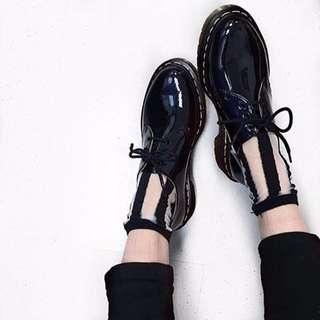 正品Dr.martens漆皮三孔馬汀鞋