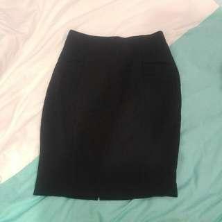 Mango Balck Pencil Skirt