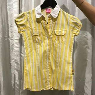 Olive Oyl Yellow Stripes Tops For Girls