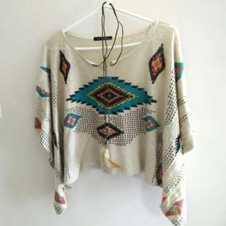 Aztec Printed Top