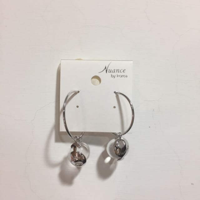 韓國玻璃球耳環