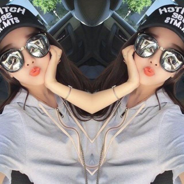 【送眼鏡袋布】林姍姍明星同款墨鏡韓版大框新款韓國圓臉太陽眼鏡