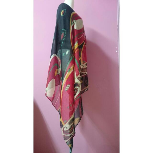 復古民族風披肩圍巾