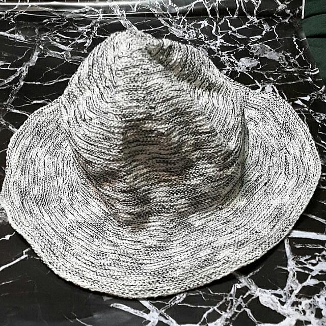(含運)韓貨 白黑編織漁夫帽