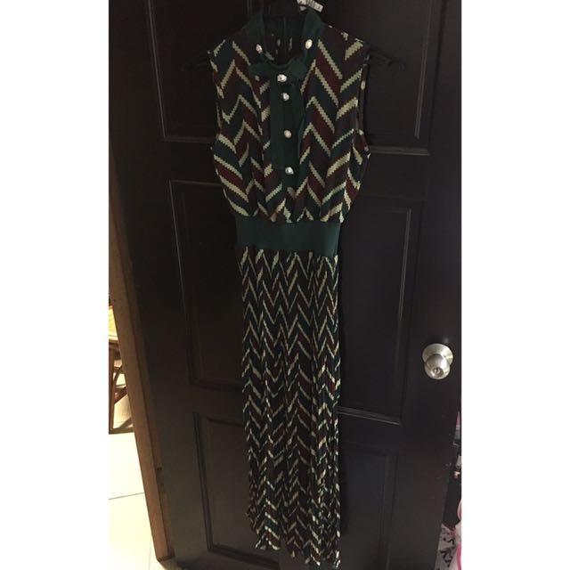 仿舊絲質洋裝 S-M號
