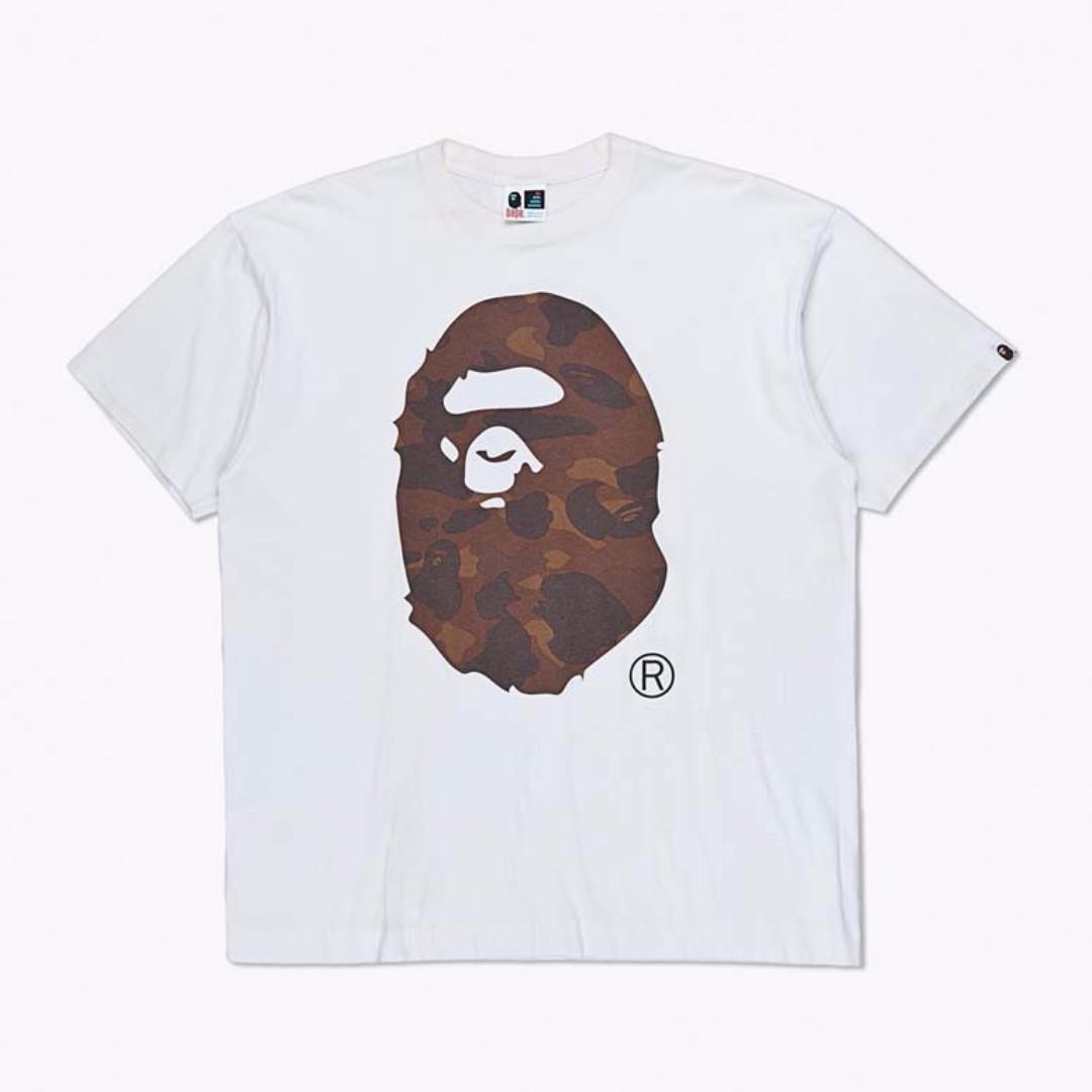 A Bathing Ape Camo Ape Head Logo T-Shirt