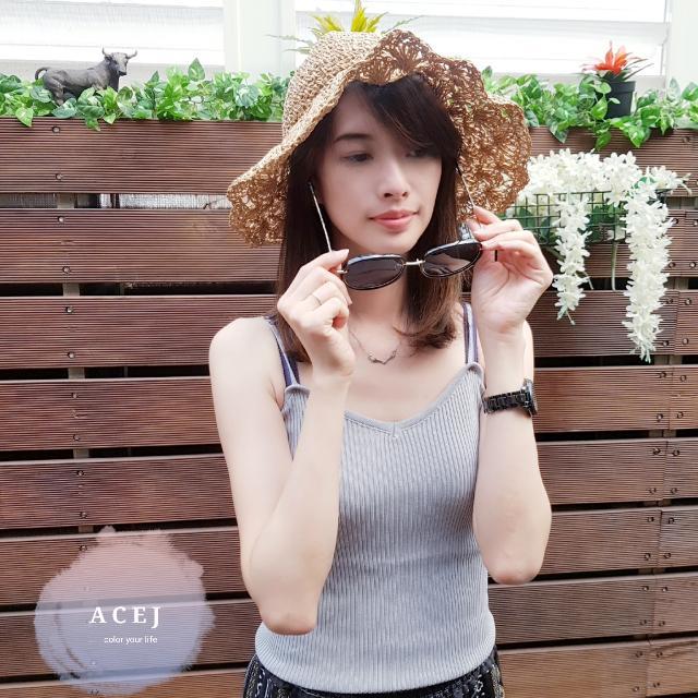 ACEJ2017韓手工編織草帽 遮陽帽 防曬帽 沙灘帽 漁夫帽 可折叠-現貨