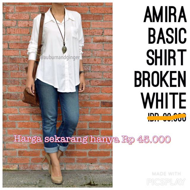 Amira Basic Shirt Broken White