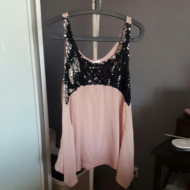 Anise Sequined Top