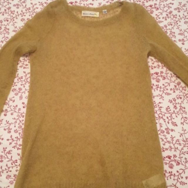 Anthropology Lime Green Sweater Size S