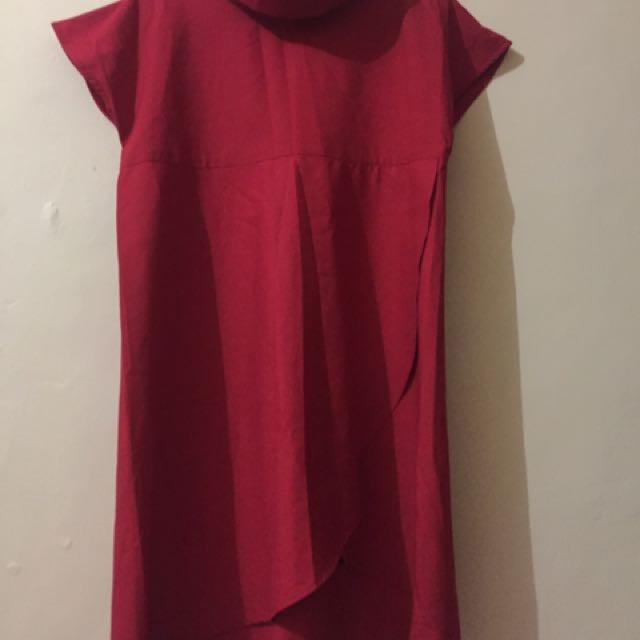 Atasan Or Dress Merah