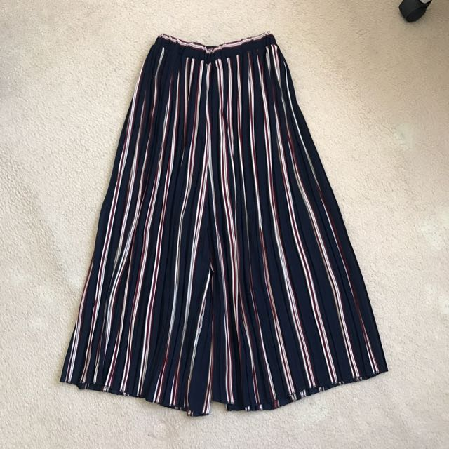 Attik High Waisted Chiffon Pleated Culottes