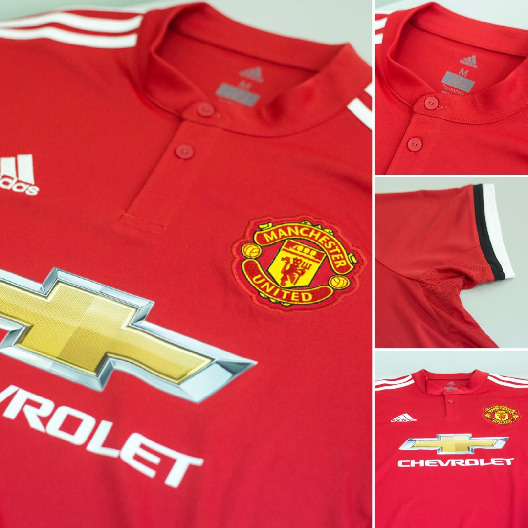 d7a752f11 Authentic adidas Climacool Manchester United 17 18 Home Shirt (Short  Sleeves)