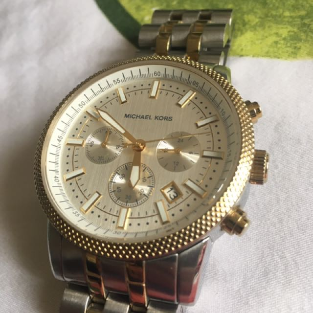 Authentic MK Two Toned Watch