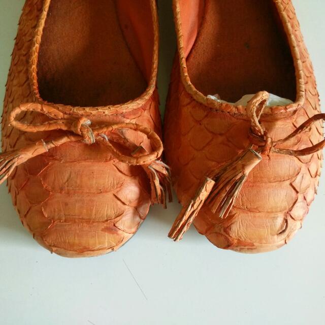 Ballerina Shoes Ori Python Leather