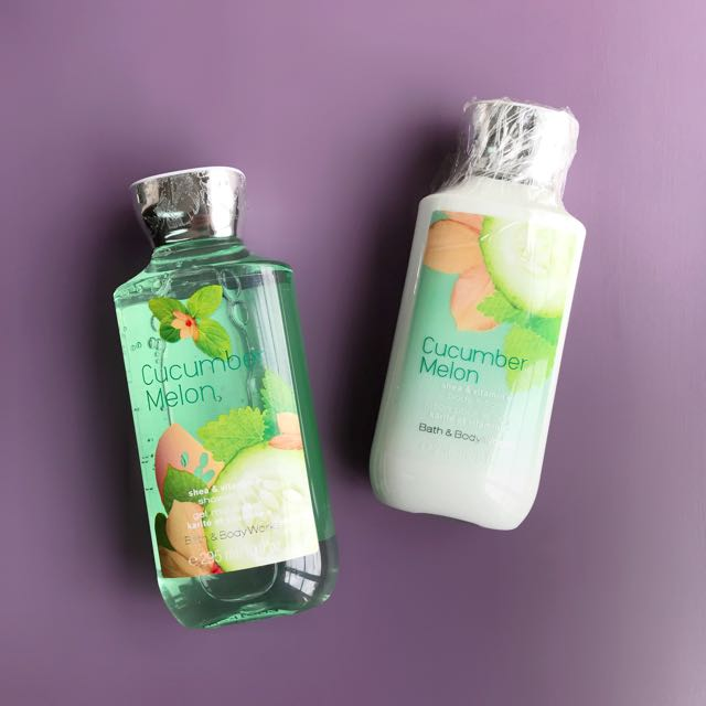 Bath & Body Works Cucumber Melon Set