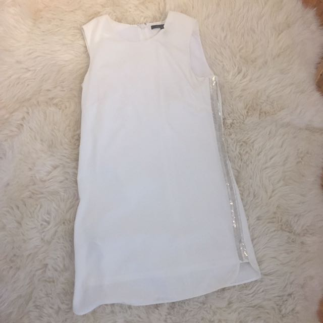BCBG White Sequin Short Dress